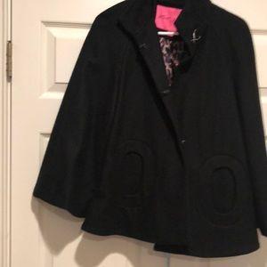 Betsey Johnson 3/4 Sleeve Short Swing Jacket